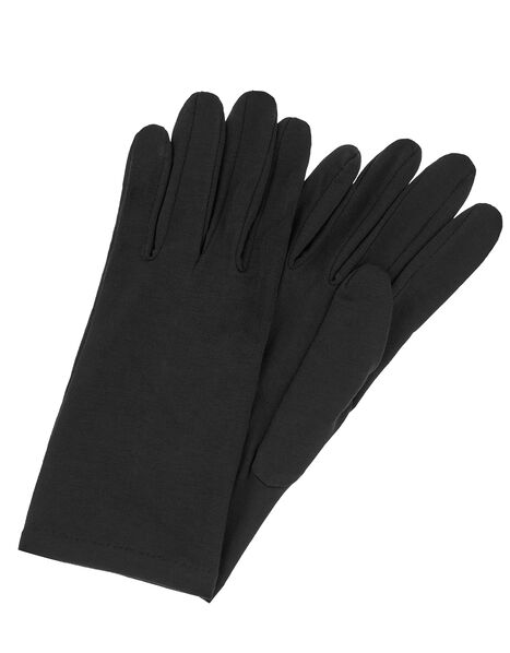 Bamboo Jersey Touch Screen Gloves Black, Black (BLACK), large