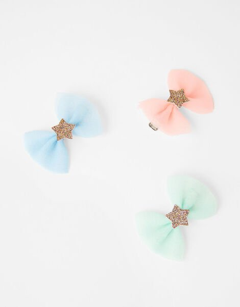 Star Bow Hair Clip Set, , large
