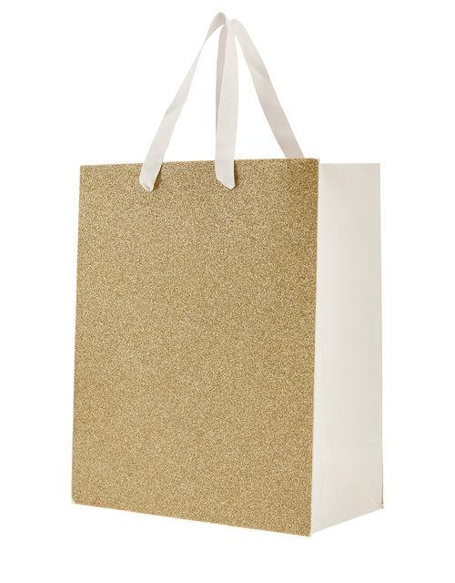 Medium Glitter Gift Bag, , large