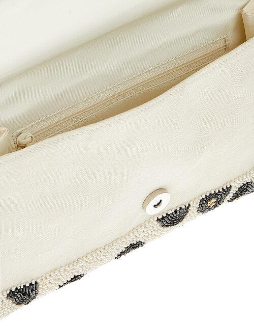 Animal Beaded Clutch Bag, , large