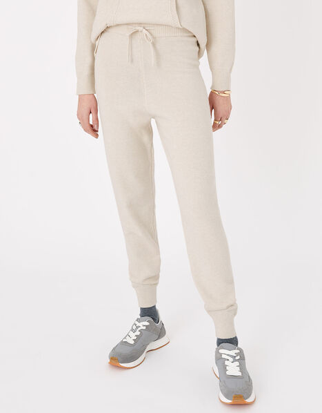 Knit Lounge Joggers Cream, Cream (TAUPE), large