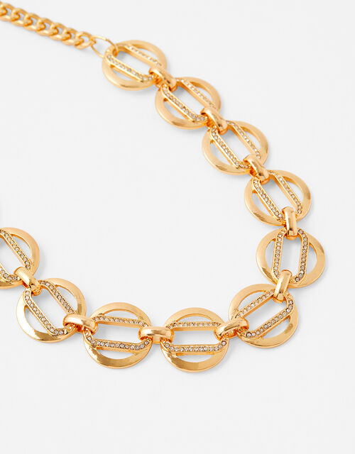 Pave Link Collar Necklace, , large