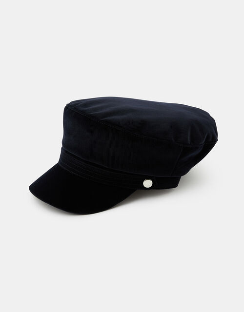 Cord Mariner Cap, Blue (NAVY), large