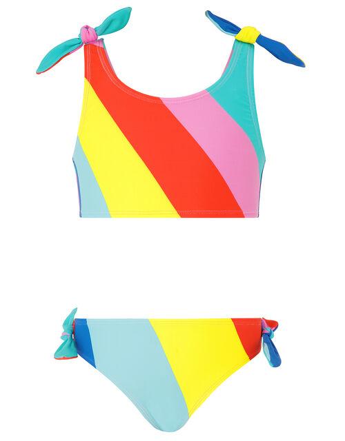 Rainbow Stripe Bikini, Multi (BRIGHTS-MULTI), large