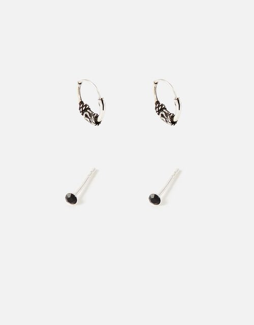 Stud and Huggie Hoop Earring Set, , large