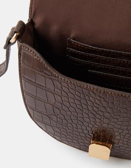 Sophia Croc Cross-Body Bag, , large