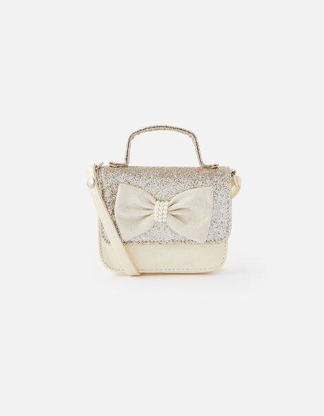 Pearly Bow Cross-Body Bag , , large