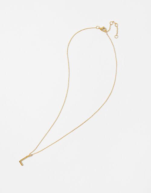 Gold Vermeil Initial Pendant Necklace - L, , large