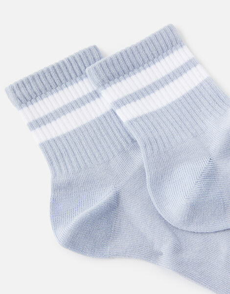 Varsity Sporty Stripe Ankle Socks, , large