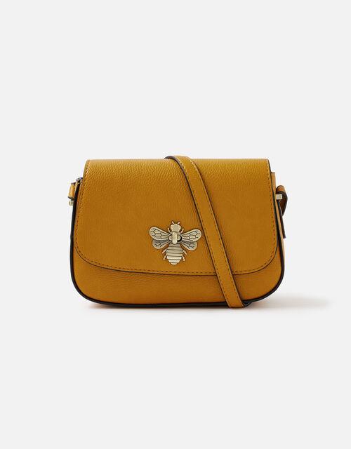 Britney Bee Cross-Body Bag , Yellow (OCHRE), large