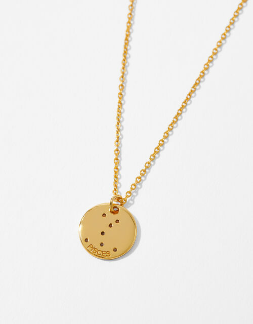 Gold Vermeil Constellation Necklace – Pisces, , large
