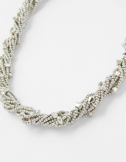 Beaded Twist Collar Necklace, , large