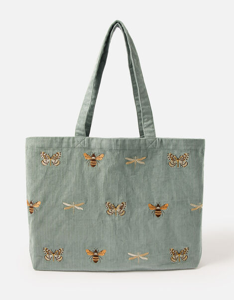 Insect Embroidered Cord Shopper Bag, , large
