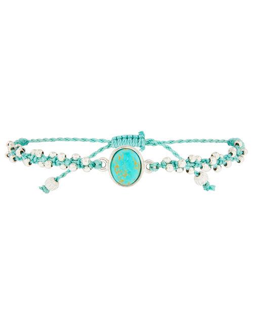 Turquoise Stone Beaded Friendship Bracelet, , large