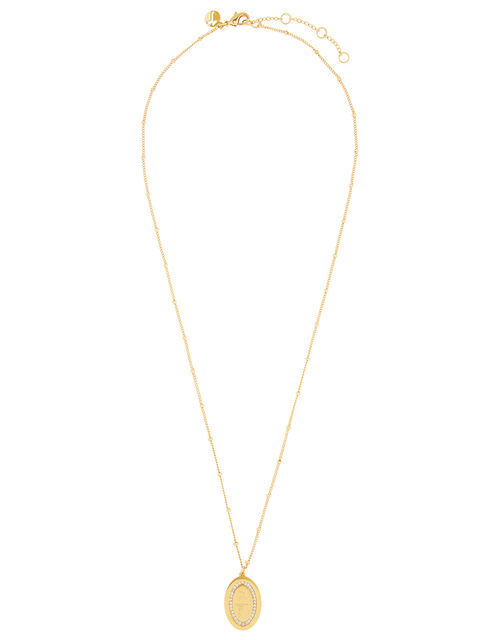 Gold-Plated Be True Sparkle Pendant Necklace, , large