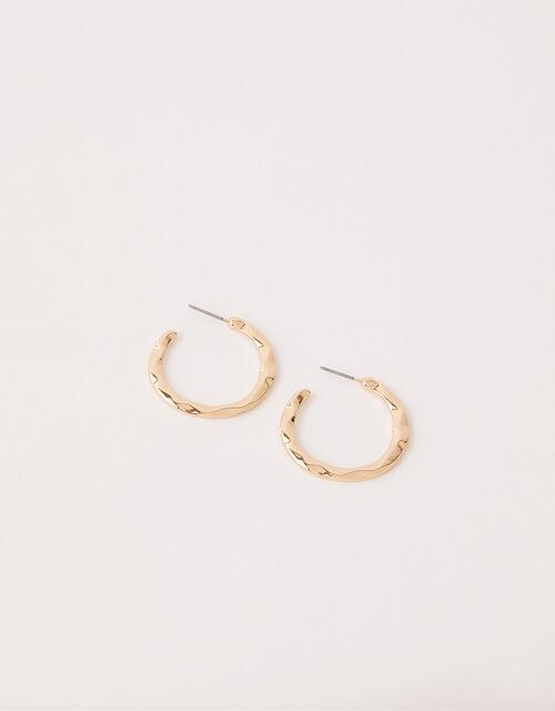 Textured Small Hoop Earrings, , large