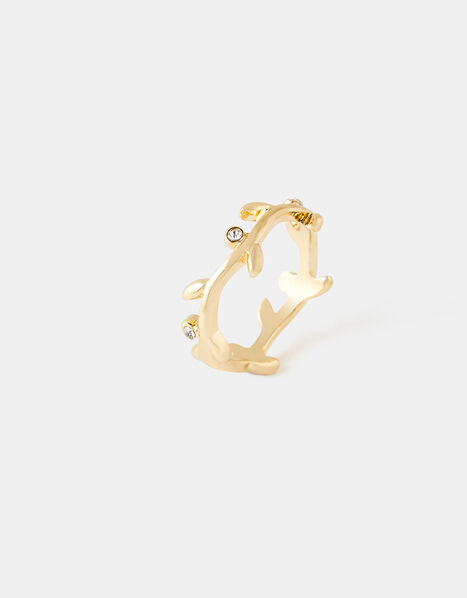 Sparkle Vine Wrap Ring Gold, Gold (GOLD), large