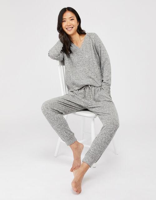 Grey Marl Sweatshirt, Grey (GREY), large