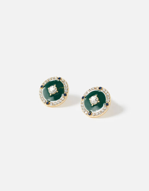 Reconnected Enamel Sparkle Coin Studs, , large