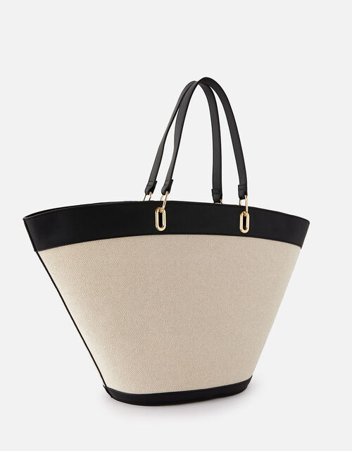 Curved Tote Bag with Purse, , large