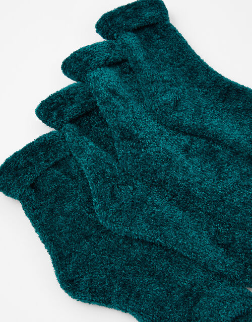 Fluffy Chenille Cosy Sock Multipack, , large