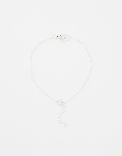 Sterling Silver Elephant Bracelet, , large