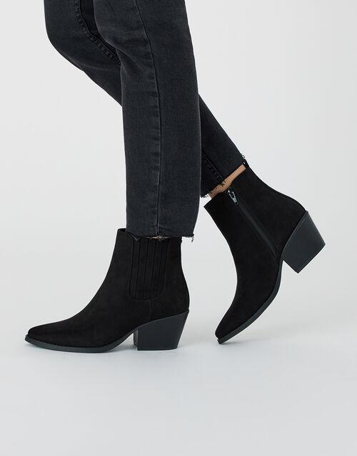 Western Boots, Black (BLACK), large