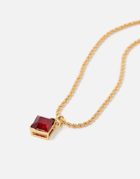 Berry Blush Diamond Gem Necklace, , large