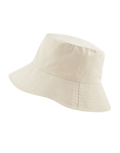 Utility Bucket Hat in Cotton Twill, Natural (NATURAL), large