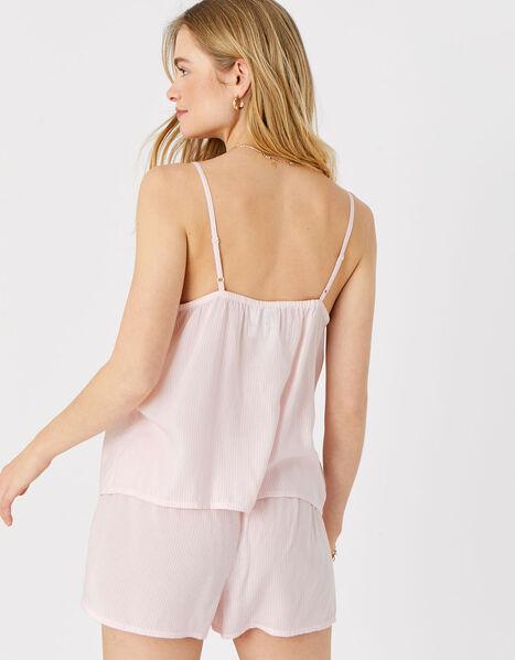 Striped Vest and Shorts PJ Set  Pink, Pink (PINK), large