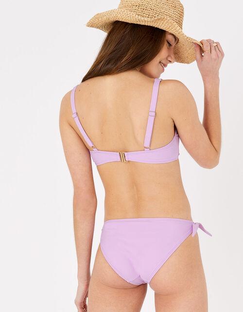 Tie Front Bikini Briefs, Purple (LILAC), large