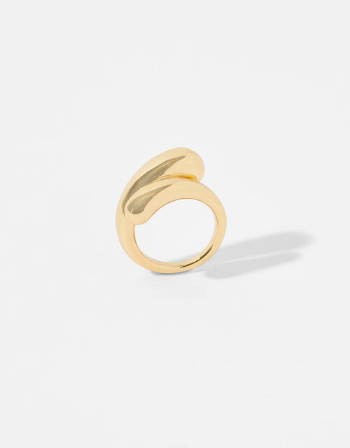 Gold-Plated Pebble Ring, Gold (GOLD), large