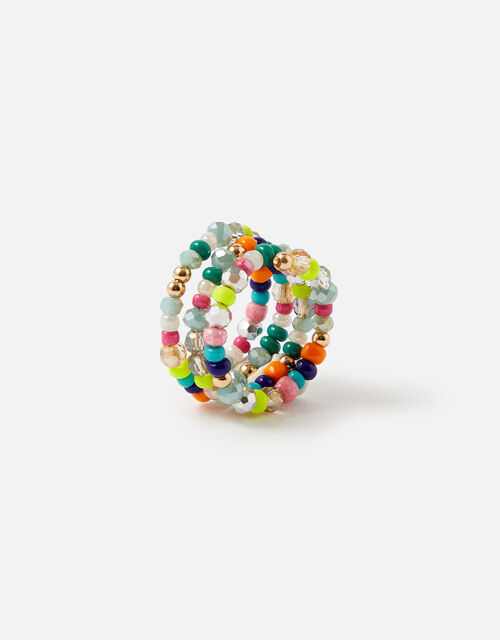 Island Vibes Bright Seedbead Spiral Ring, Multi (BRIGHTS-MULTI), large