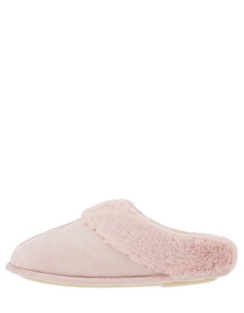 Suedette Mule Slippers, Pink (PINK), large