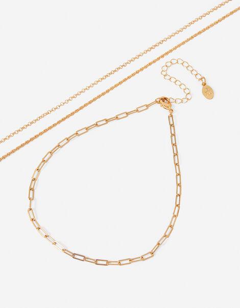 Chain Choker Necklace Set, , large
