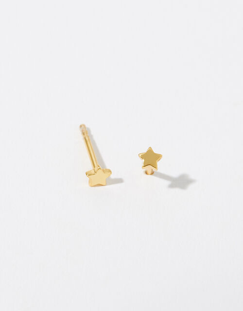 Gold Vermeil Star Stud Earrings, , large