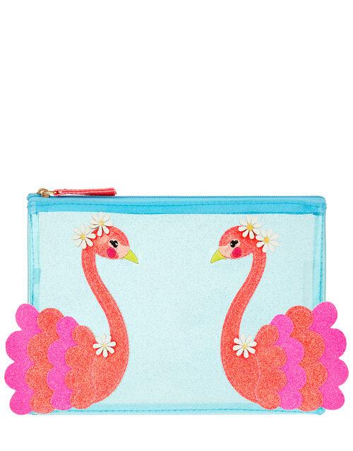 Flora Flamingo Jelly Pencil Case, , large