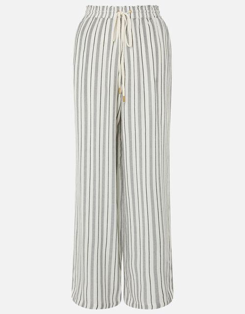 Textured Stripe Beach Trousers, Black (BLACK/WHITE), large