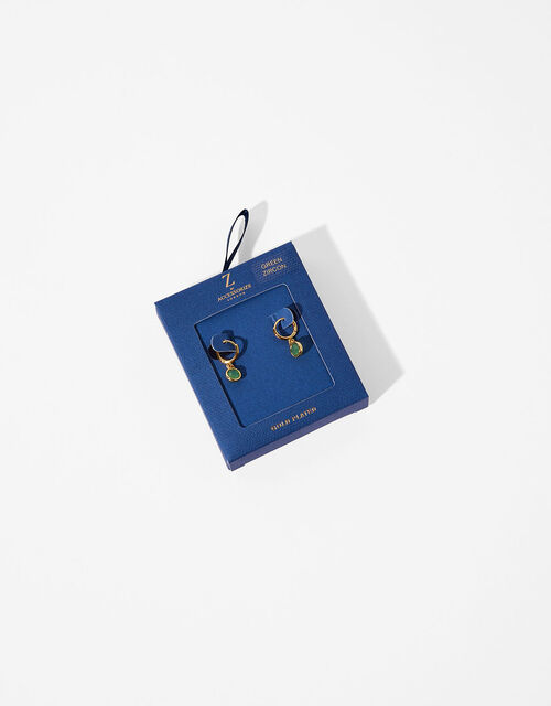Gold-Plated Birthstone Earrings - December, , large
