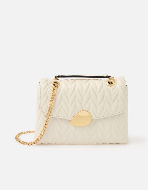 Pleated Ayda Bag, Cream (CREAM), large