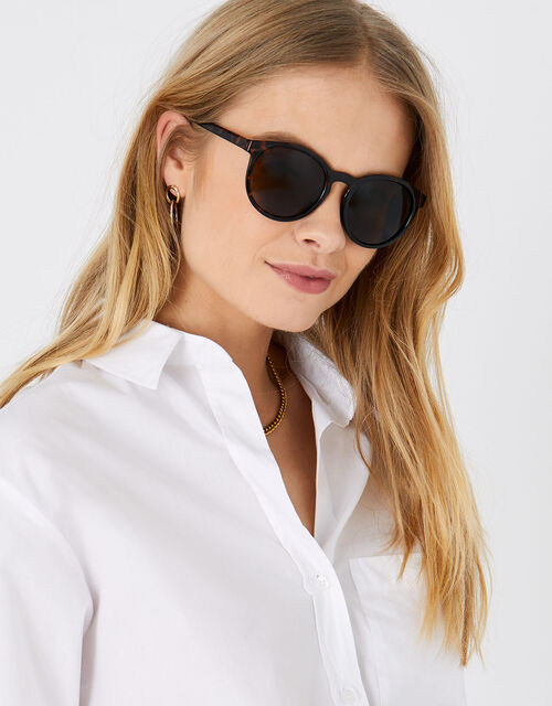 Pia Tort Preppy Sunglasses, , large