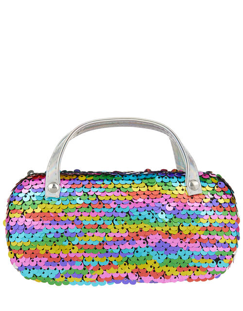 Rainbow Sequin Sunglasses Case, , large