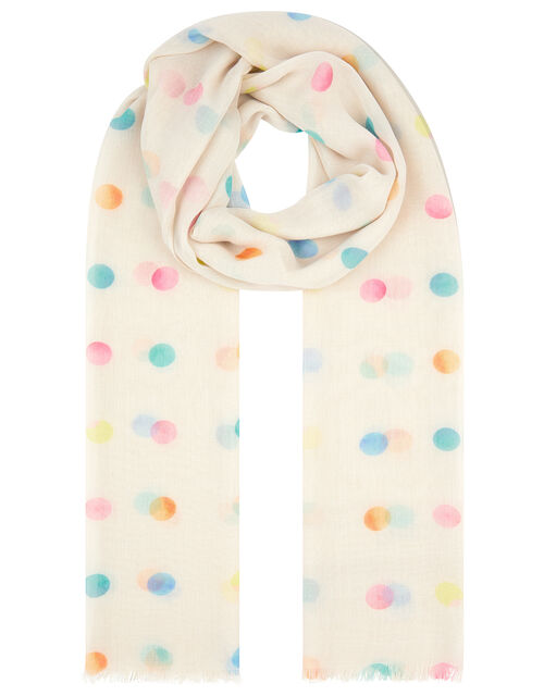 Rainbow Spot Scarf, , large