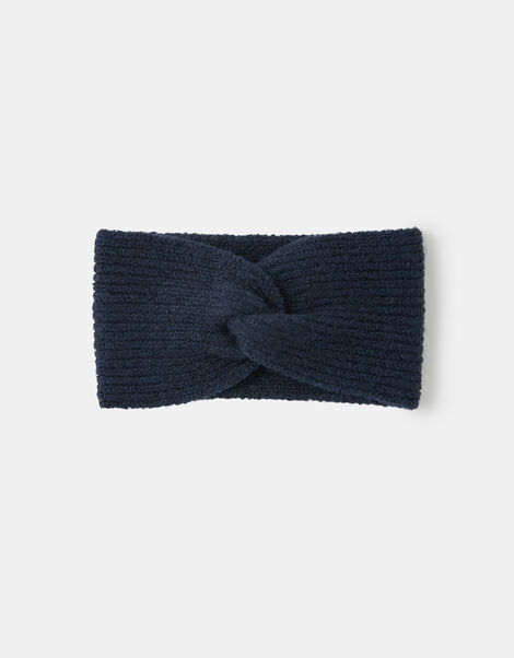 Knit Bando Headband Blue, Blue (NAVY), large