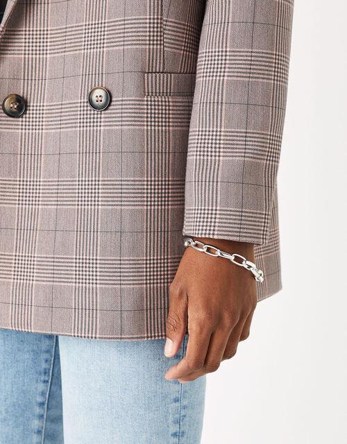 Simple Medium Chain Bracelet, Silver (SILVER), large
