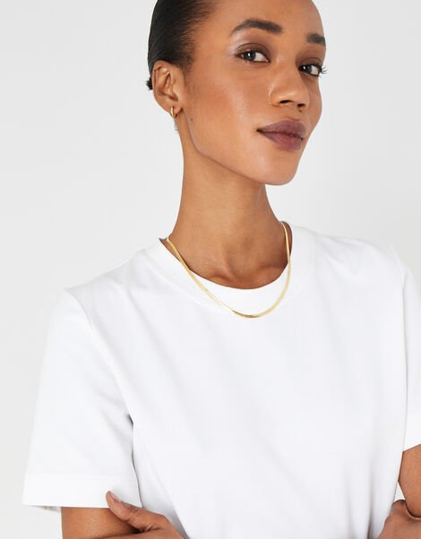 Gold-Plated Snake Chain Necklace, , large