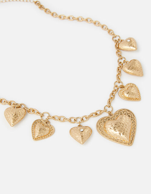 Heart Collar Necklace with Recycled Metal, , large