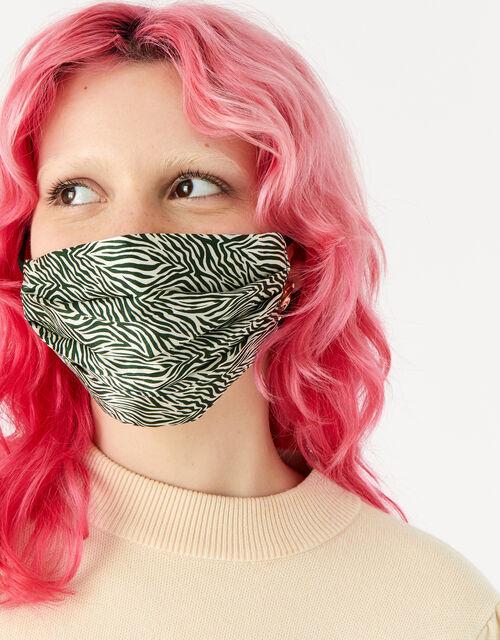 Zebra Silk Face Covering, , large