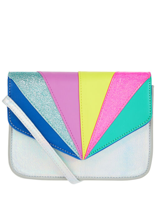 Retro Rainbow Cross Body Bag, , large