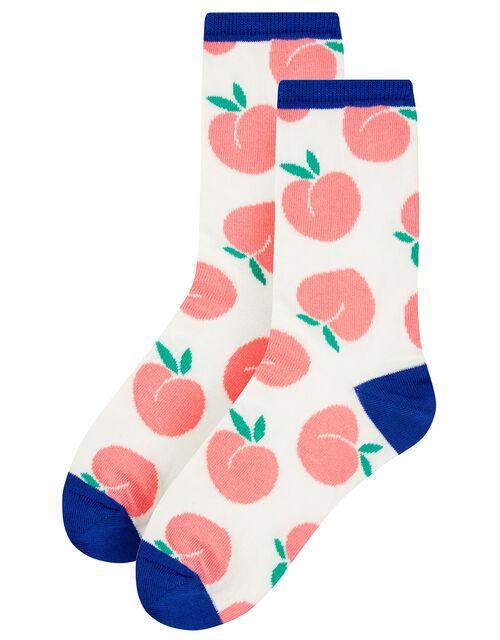 Peach Ankle Socks, , large